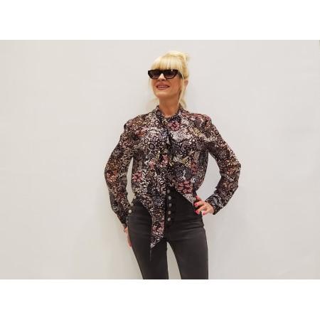 Блуза Цвет черно-серый узор  Состав 100% silk