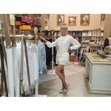 Костюм белый пиджак и шорты Украина