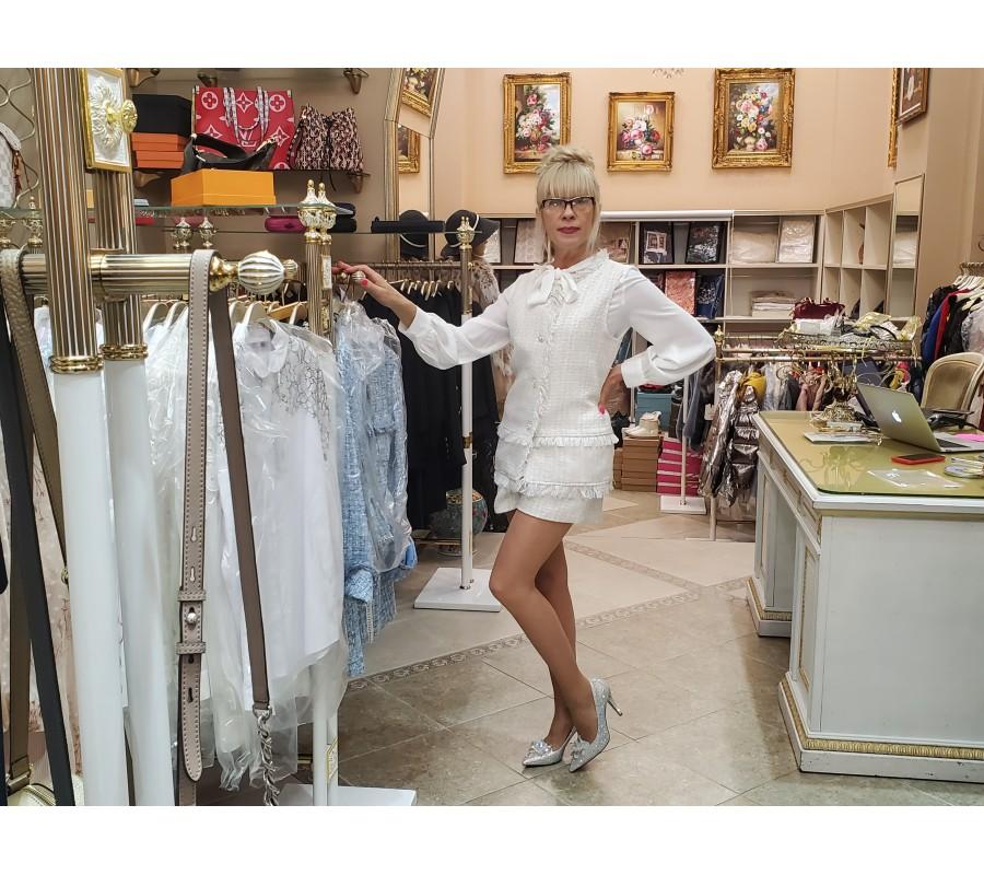 Suit white jacket and shorts