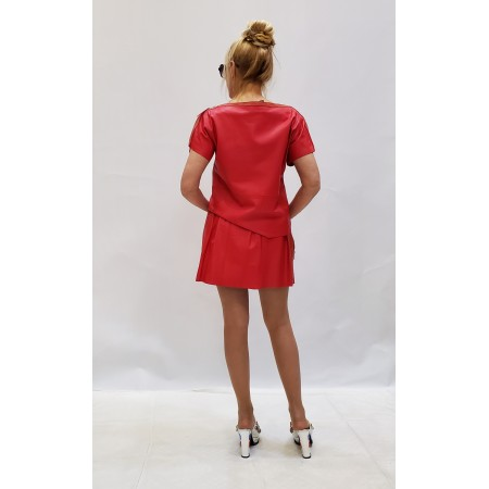 Костюм блуза\юбка натуральная кожа