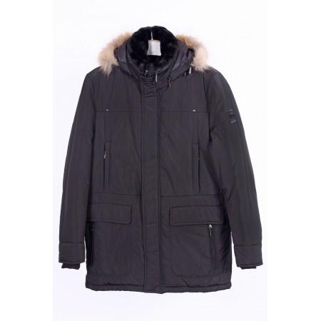 Куртка мужская  /внутренний материал холлофайбер/ Цвет черный  Состав 100% polyester, подкладка 80% cotton 20% polyester