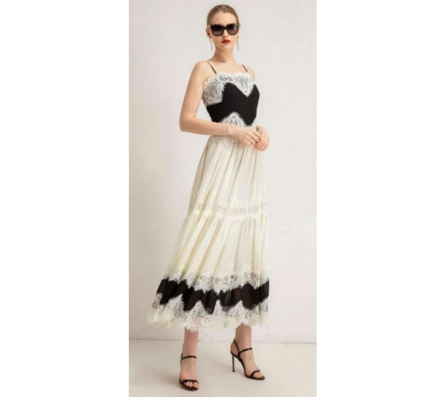Sundress white with lace EVONA France