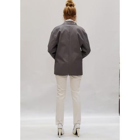 Пиджак серый с рубашкой 100% cotton