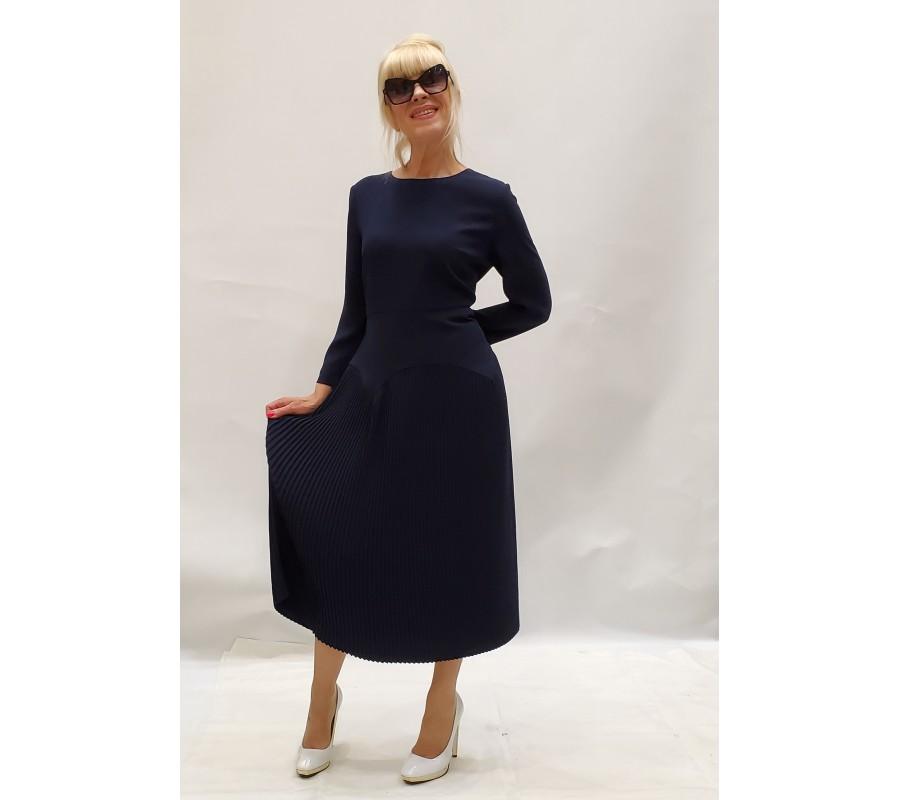 Dress dark blue bottom accordion pleats producer Ukraine