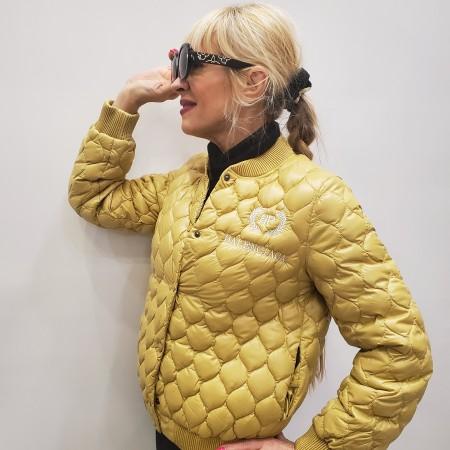 Куртка горчичная наполнитель пух Украина